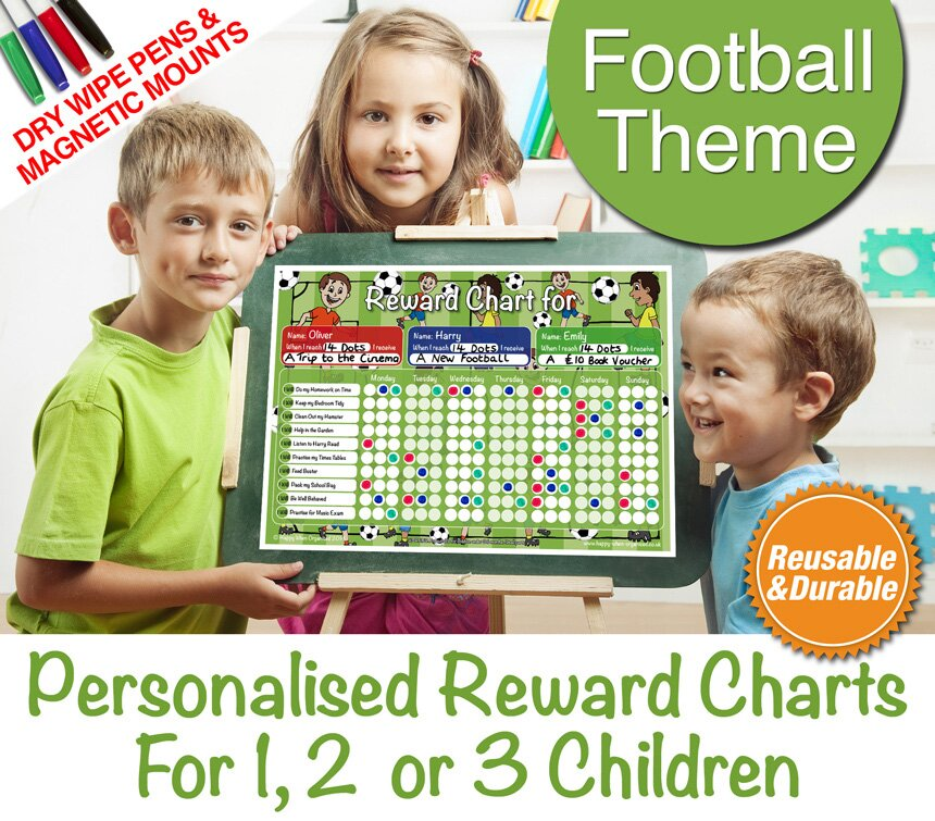PersonalisedFootballChildsRewardBehaviourChartsChildrens