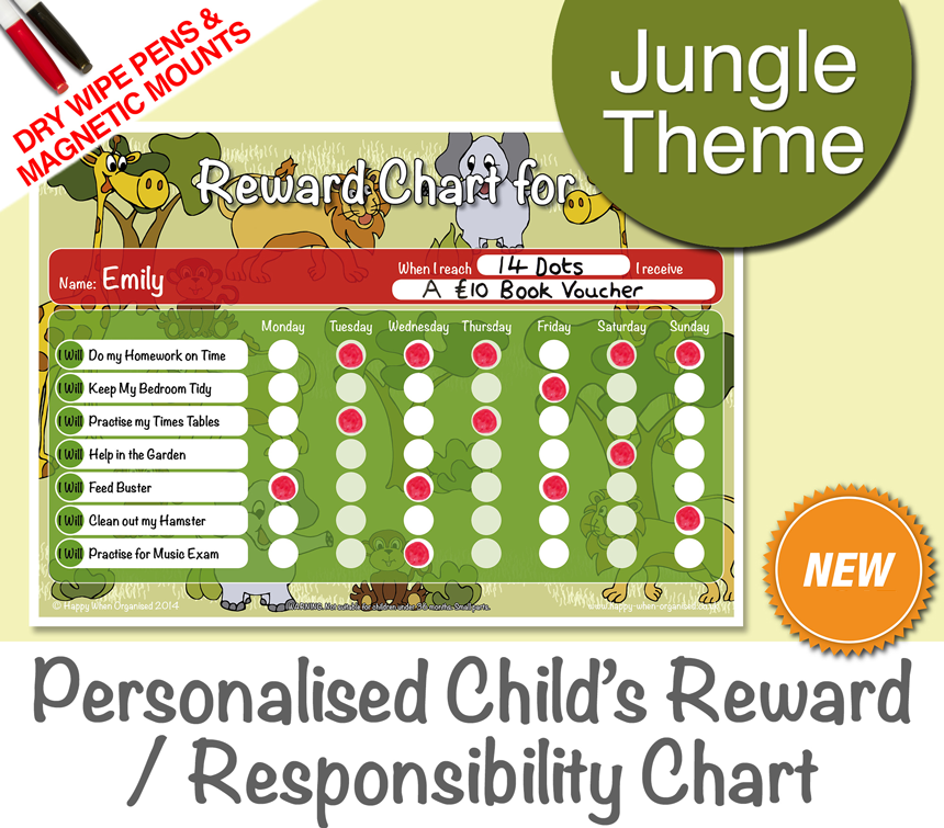 a4behaviourkidsresponsibilityrewardchartjungle