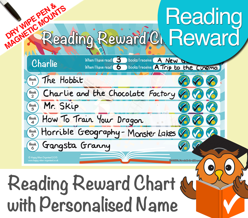 a4behaviourkidsresponsibilityrewardchartreading34567years