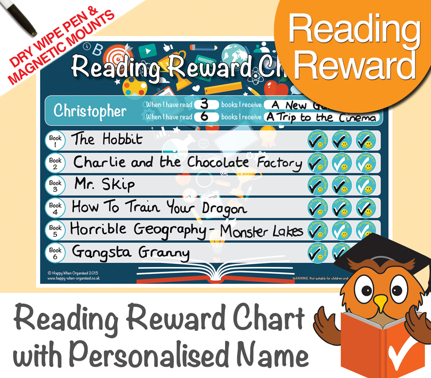 reading reward chart 7 to 13 years
