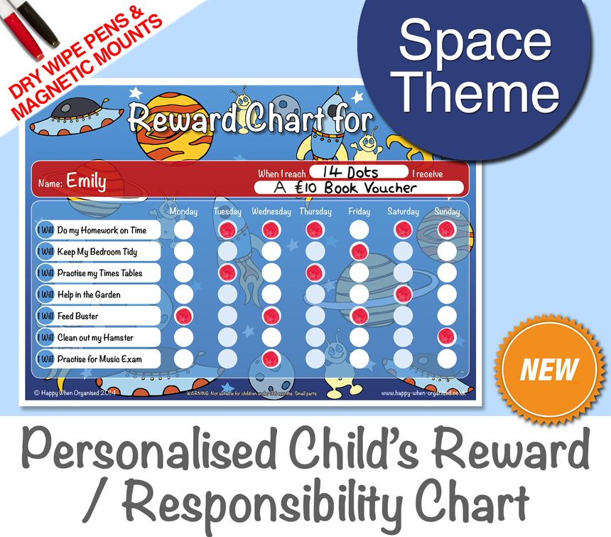 a4behaviourkidsresponsibilityrewardchartspace